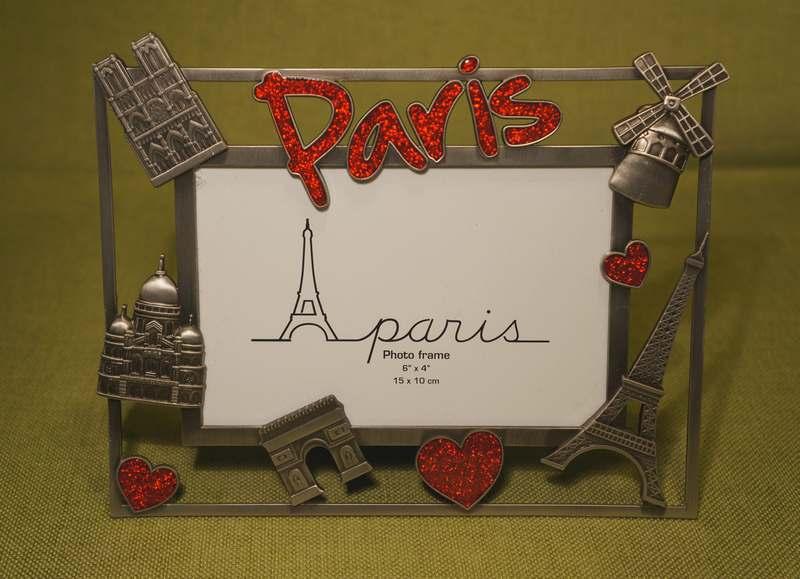 PARIS, FRANCE - Picture Frame, kitsch, tourist, souvenir. | TRAVEL ...